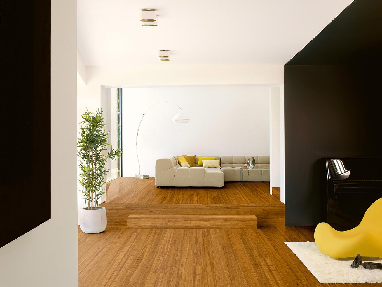 Een bamboe vloer is natuurlijk de sterkste
